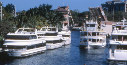 Yaughts moored in Lauderdale